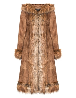 Faux Suede And Fur Coat by Fabulous Furs in Jessica Jones