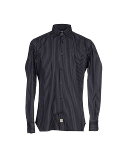 Pinstripe Dress Shirt by Luigi Borrelli Napoli in Cut Bank