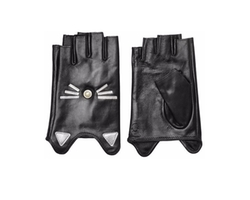 K/Ikonik Embellished Fingerless Leather Gloves by Karl Lagerfeld in The Fate of the Furious