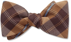 Dunhurst Brown Plaid Bow Tie by Beau Ties Ltd. of Vermont in Love the Coopers
