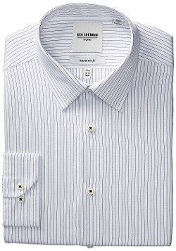 Men's  Stripe Dress Shirt by Ben Sherman in (500) Days of Summer