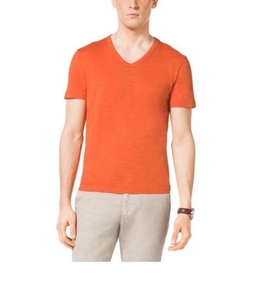 V-Neck Cotton T-Shirt by Michael Kors Men in Ballers - Season 1 Episode 6