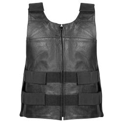 Men's Bulletproof Tactical Cowhide Leather Vest by Xelement in Warm Bodies