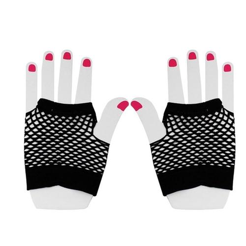 Fish Net Elastic Short Fingerless Gloves by Allegra K in Empire - Season 2 Episode 7