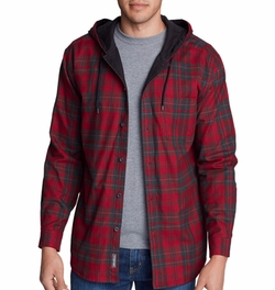 Eddie's Favorite Flannel Hoodie by Eddie Bauer in Why Him?