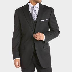 Charcoal Vested Modern Fit Suit by Jones New York in Anchorman 2: The Legend Continues