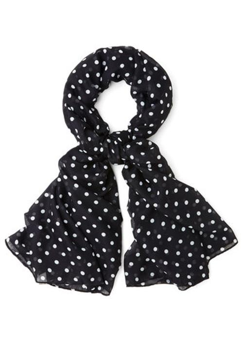 Dots to Discuss Scarf in Black by ModCloth in Fifty Shades of Grey