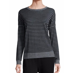 Striped Merino Wool Sweater by Eileen Fisher in Snatched