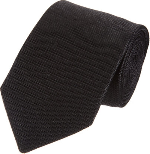 Black Textured Silk Tie by Barneys New York in Survivor