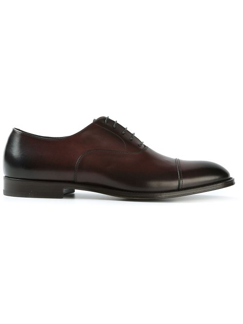 Horse Leather Oxford Shoes by Doucal's in Begin Again