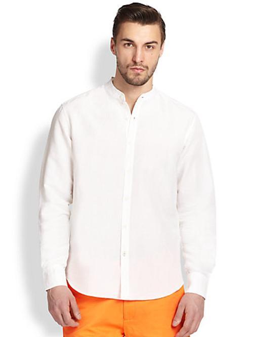 Fine-Stripe Shirt by Armani Collezioni in Unbroken