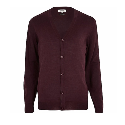 Wool Blend Cardigan by River Island in The Boss