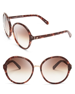 Bernadette Oversized Round Sunglasses by Kate Spade New York in Scream Queens