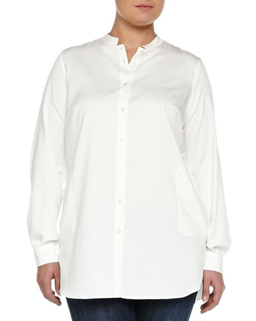 Baita Long-Sleeve Easy Blouse by Marina Rinaldi in Begin Again