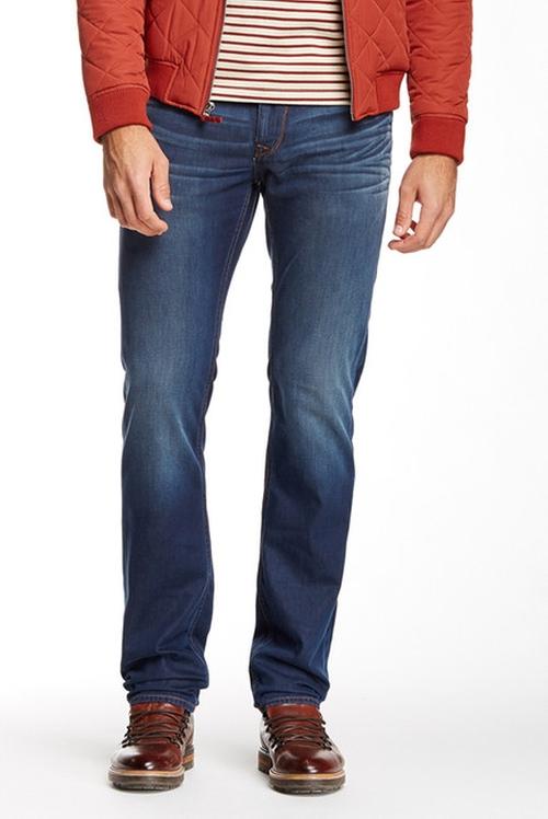 Pamati Woven Denim Slim Fit Pants by Robert Graham in Spotlight