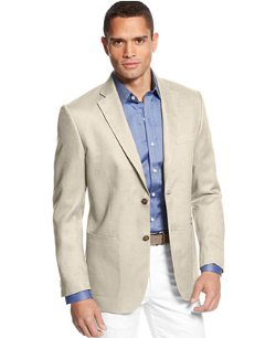 Island Solid Linen 2-Button Blazer by Tasso Elba in While We're Young
