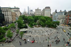 New York City, New York by Union Square Park in Begin Again