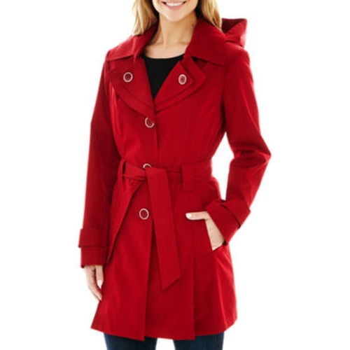 Belted Rain Coat by Avanti in Pretty Little Liars - Season 6 Episode 10