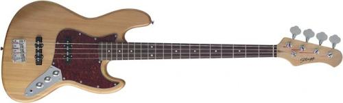 B300-NS 4 String Standard J Electric Bass Guitar - Natural Semi-Gloss by Stagg in Jersey Boys
