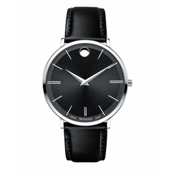 Stainless Steel & Leather Ultra Slim Watch by Movado in House of Cards