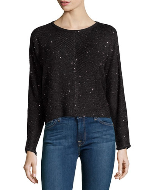 Sequin Cropped Sweater by Design History in Pretty Little Liars - Season 6 Episode 6