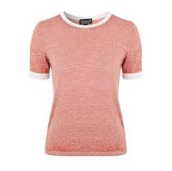 Burnout Contrast Tee Shirt by Topshop in Girlboss