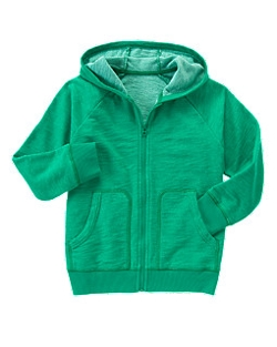 Heathered Terry Hoodie by Gymboree in Poltergeist