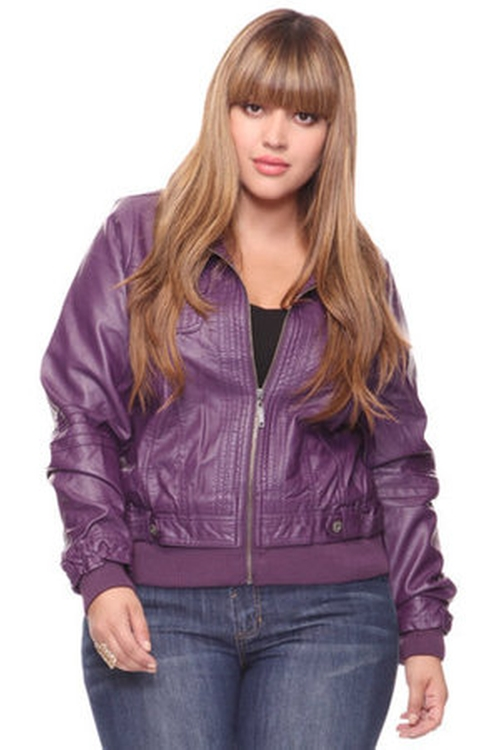 Ruffled Faux Leather Jacket by Forever 21 in Pitch Perfect