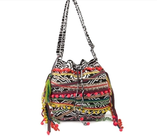 Aztec Print Boho Bucket Bag by Journeys in Pretty Little Liars - Season 6 Episode 10