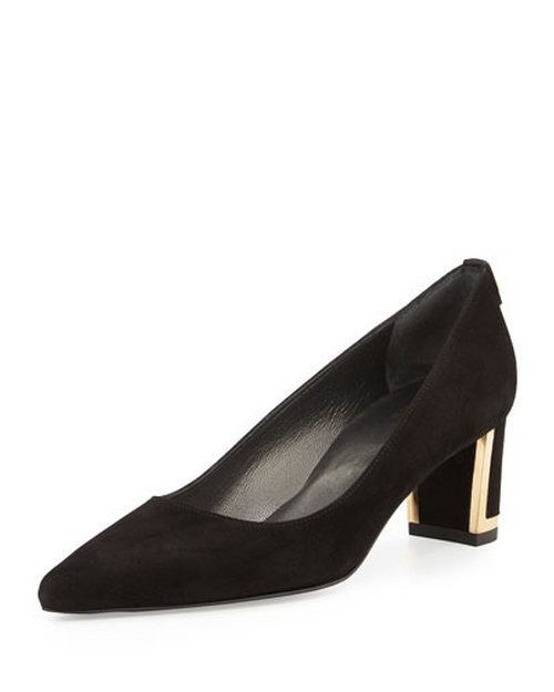 Logo Firstclass Pump by Stuart Weitzman in Survivor