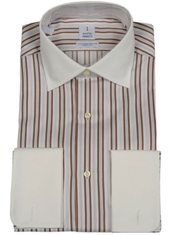 Striped Dress Shirt by Mastai Ferretti in Drive