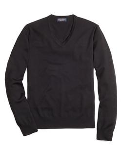 Wool V-Neck Sweater by Saxxon in Secret in Their Eyes