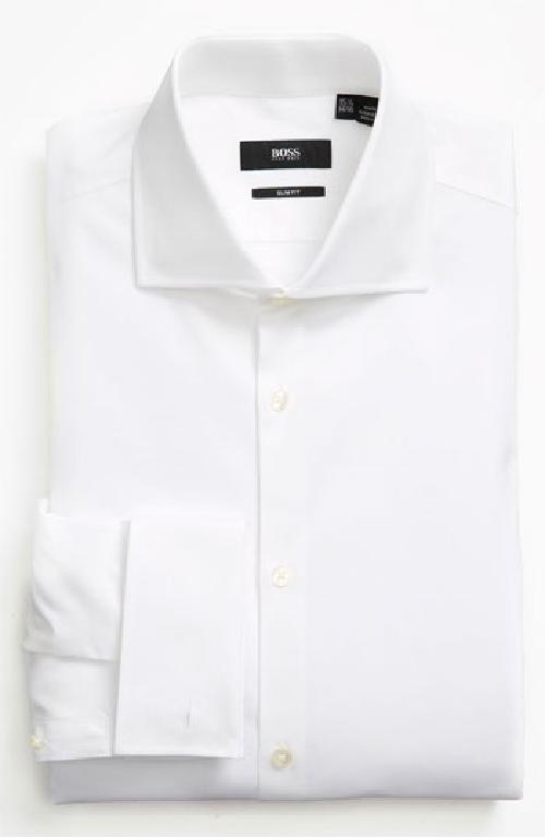 Slim Fit Dress Shirt by BOSS HUGO BOSS in The Wolf of Wall Street