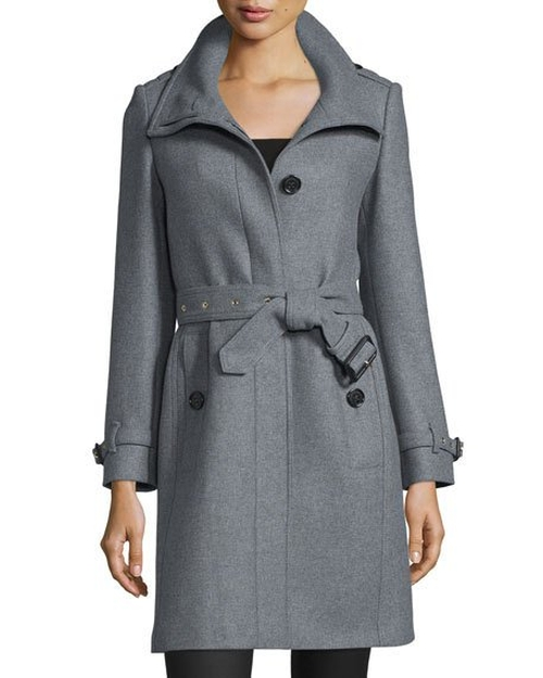 Gibbsmore Wool-Blend Single-Breasted Coat by Burberry in Wonder Woman
