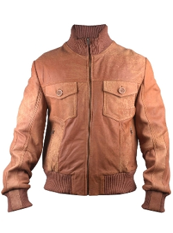 Majore Bomber Leather Jacket by FactoryExtreme in Dope