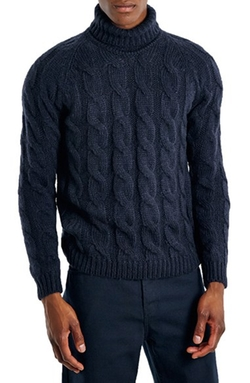 Cable Knit Turtleneck Sweater by Topman in Love Actually