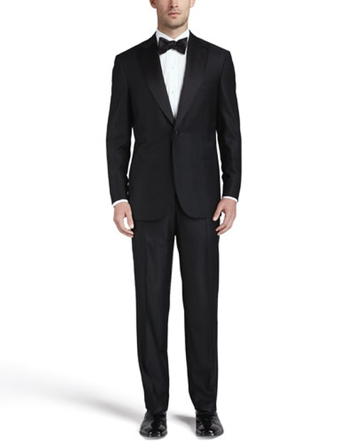One-Button Peaked-Lapel Tuxedo Suit by Brioni in Atonement