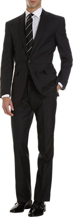 Anthony Two-Button Suit by Ralph Lauren in Fifty Shades of Black