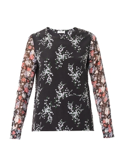 Liam Floral-Print Blouse by Equipment in Thor