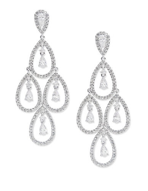 Cubic Zirconia Chandelier Drop Earrings by Nadri in American Horror Story - Season 5 Episode 8