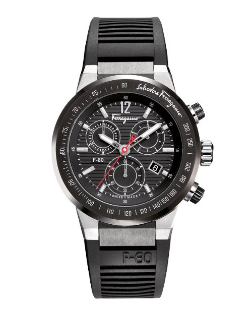 Rubber-Strap Chronograph Watch by Salvatore Ferragamo	 in Furious 7