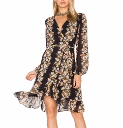 Only You Wrap Dress by Wayf in Scream Queens