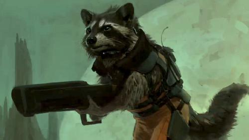 Rocket Racoon by Charlie Wen (Concept Artist) in Guardians of the Galaxy Vol. 2
