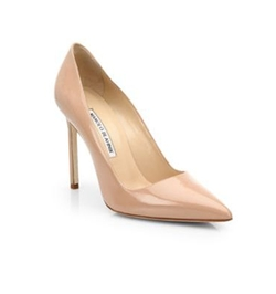 BB 105 Patent Leather Point-Toe Pumps by Manolo Blahnik in Fifty Shades Darker