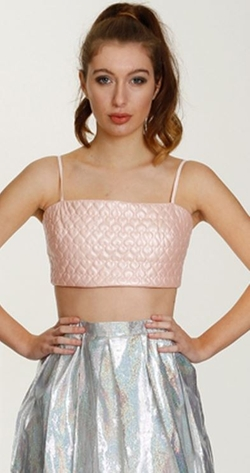 Quilted Bralet by Lashes of London in Scream Queens