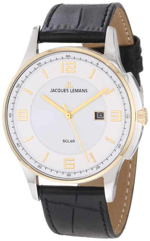 Men's 1-1624B London Solar Classic Analog with Solar Watch by Jacques Lemans in Jersey Boys