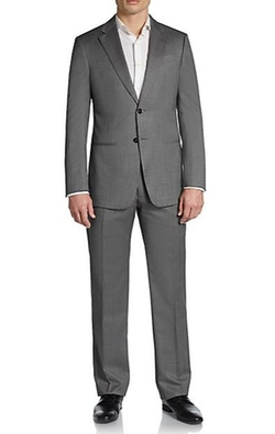 Neat Pindot Wool Suit by Armani Collezioni in Ocean's Eleven