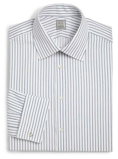 Crosby Striped Button Front Shirt by Ike Behar in Sherlock Holmes: A Game of Shadows