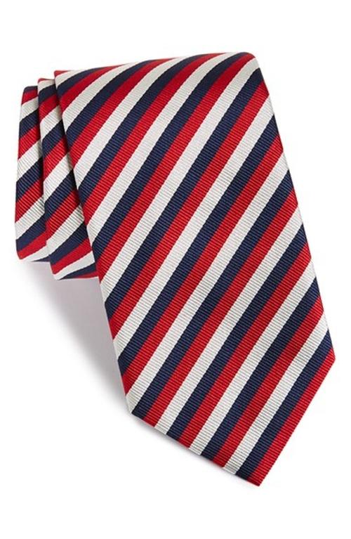 'Three Stripes' Silk Tie by Vineyard Vines in Triple 9