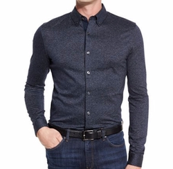 Textured Woven Sport Shirt by Michael Kors in Empire